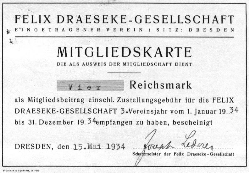 Felix Draeseke Web Pages: International Draeseke Society/NA
