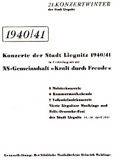 Liegnitz Concert Programs for 1940-1941: click  to enlarge in new window.
