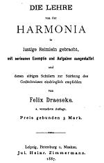 "Die Lehre von der Harmonia in lustige Reimlein gebracht"" (Treatise on Harmony Rendered in Merry Verse) - click for full text pdf"