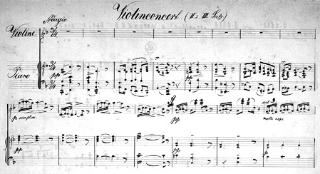 Draeseke's Violin Concerto - click  to enlarge in new window.