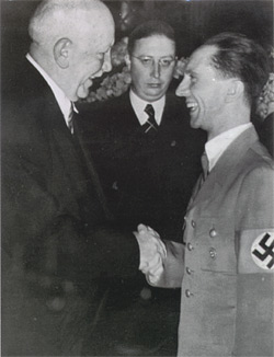 Richard Strauss - Heinz Drewes - Joseph Goebbels: click for larger image.